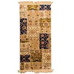 Tapis soyeux supérieur -22871 -70x140 ivory/brown